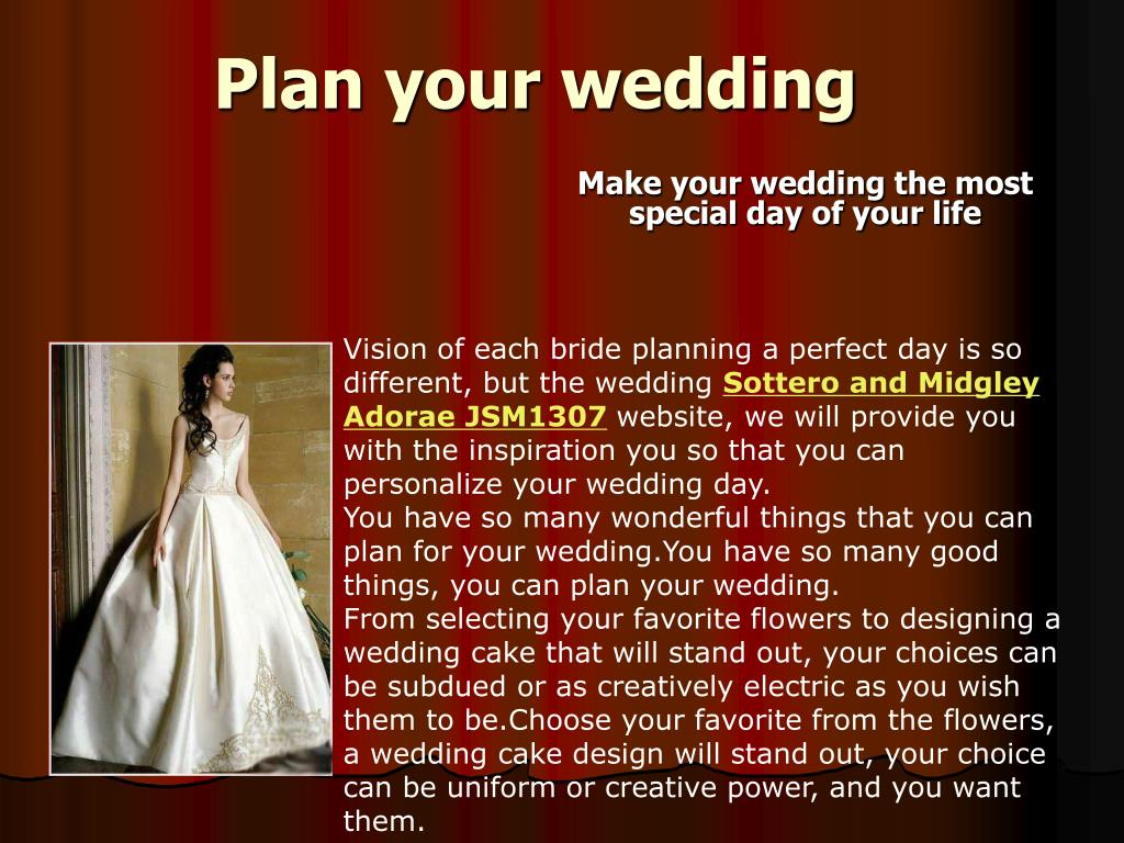 plan your wedding l.
