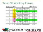 twenty 20 world cup fixtures