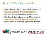 twenty 20 world cup on the web