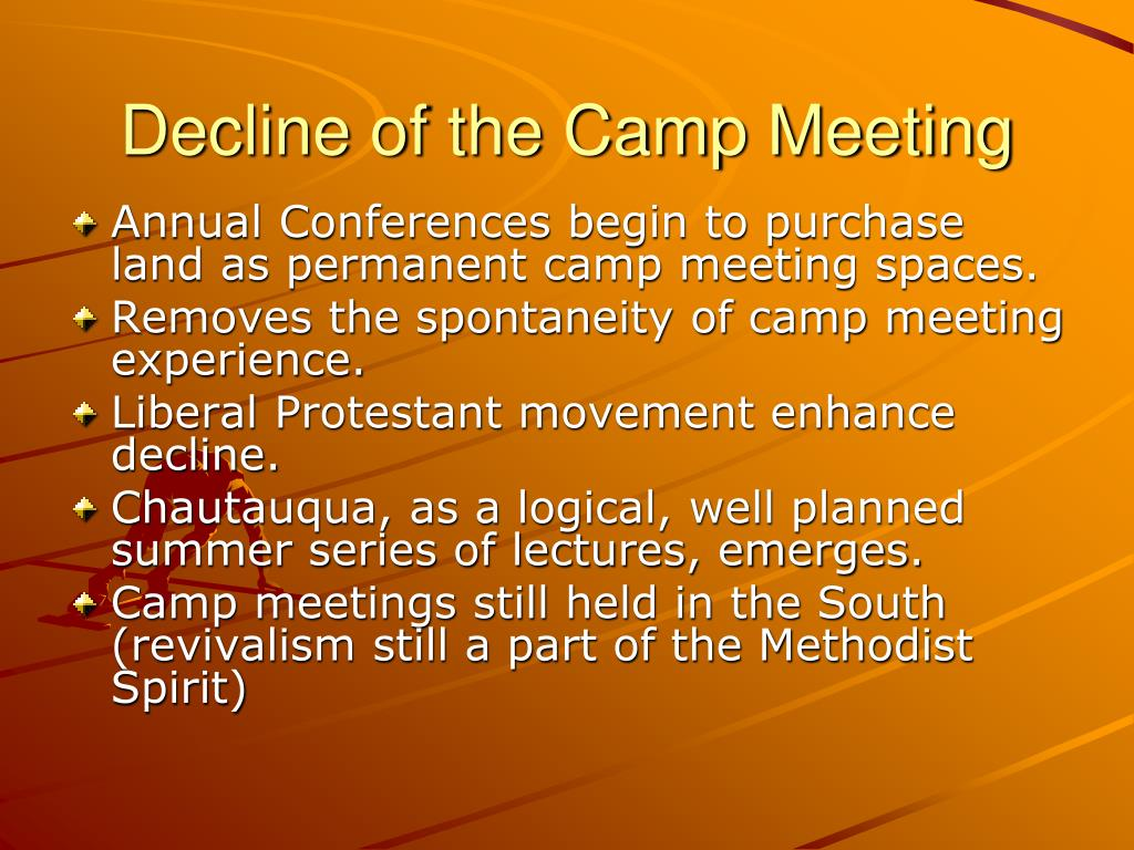 Decline of the Camp Meeting