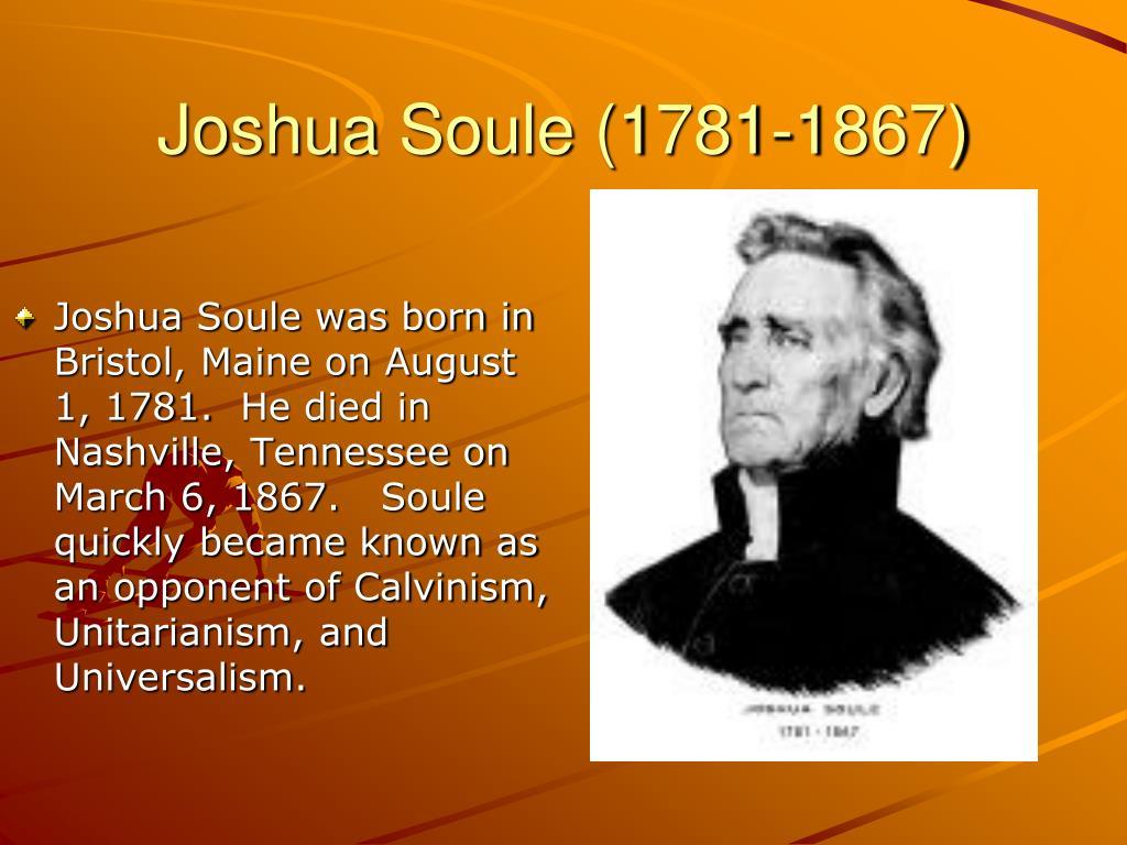 Joshua Soule (1781-1867)