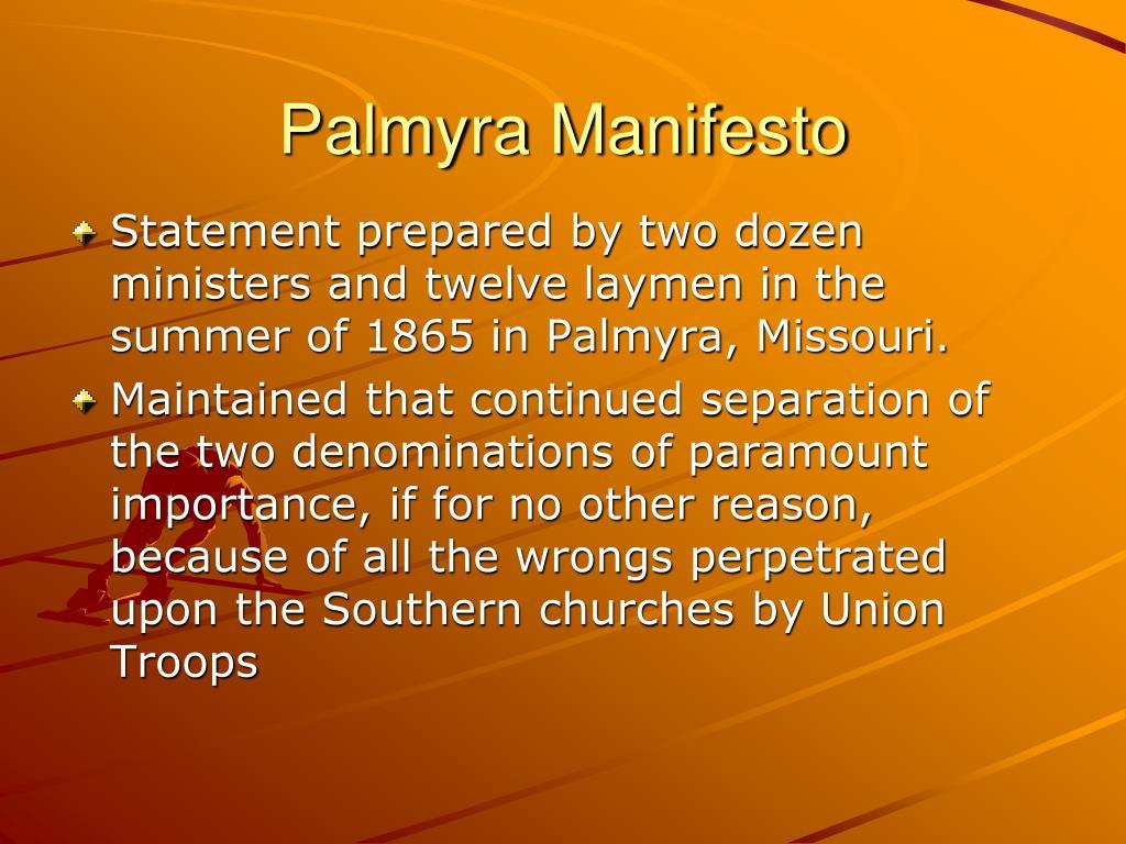Palmyra Manifesto