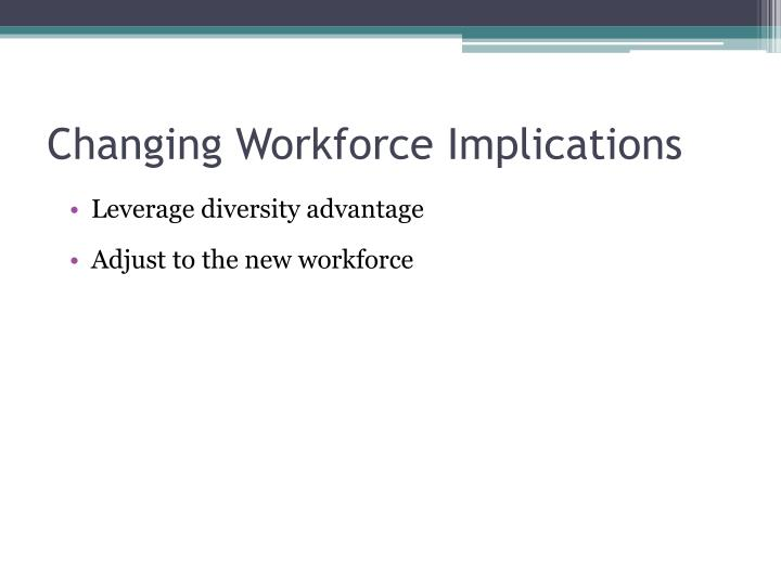 Changing Workforce Implications