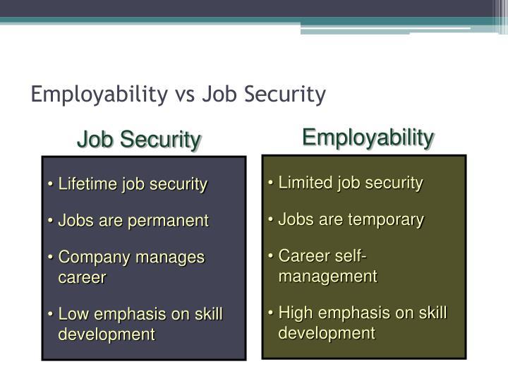Employability vs Job Security