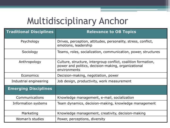 Multidisciplinary Anchor