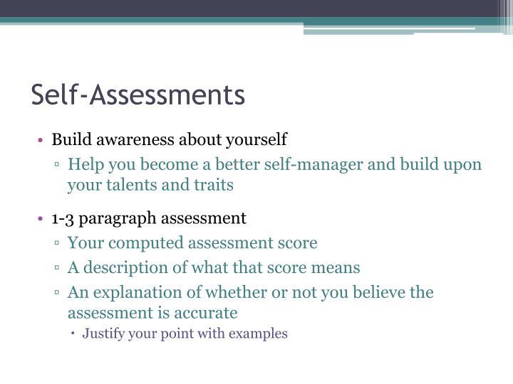 Self-Assessments