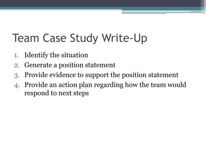 Team Case Study Write-Up