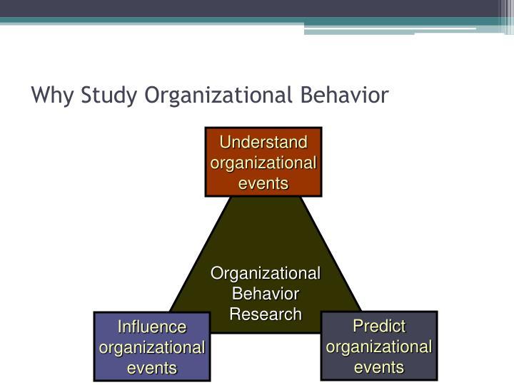 Why Study Organizational Behavior