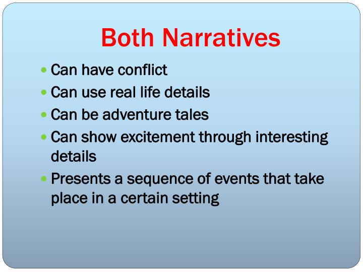Both narratives
