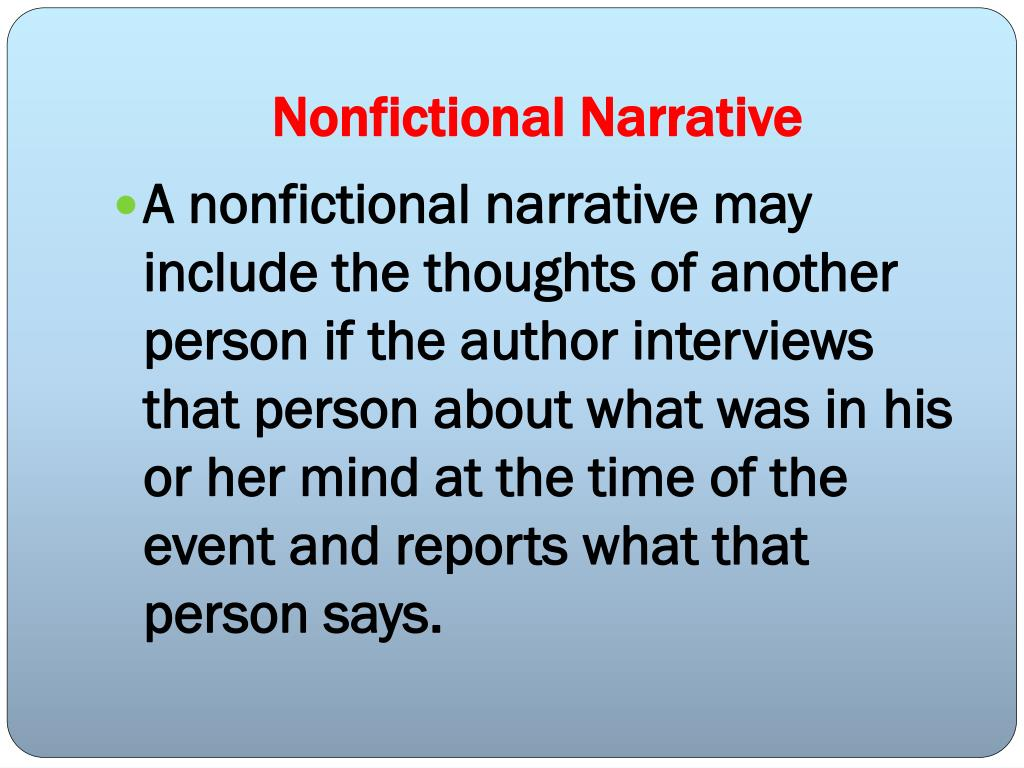 Nonfictional Narrative