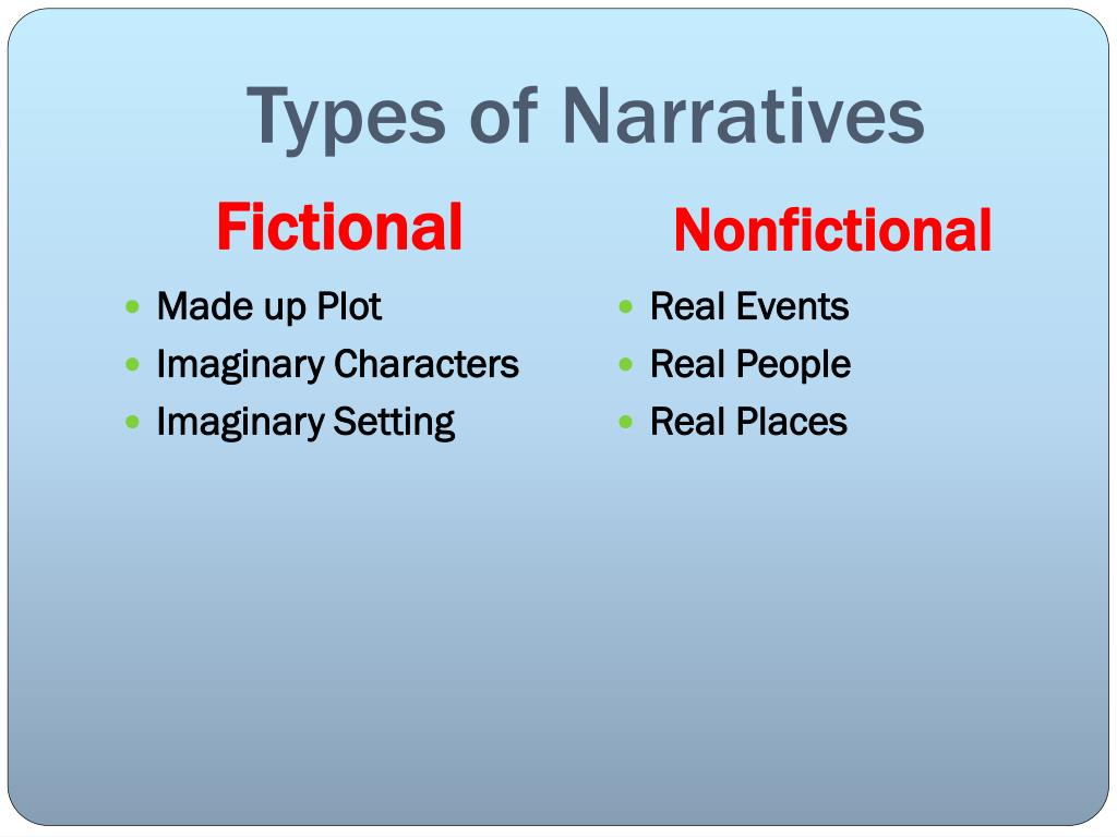 Types of Narratives
