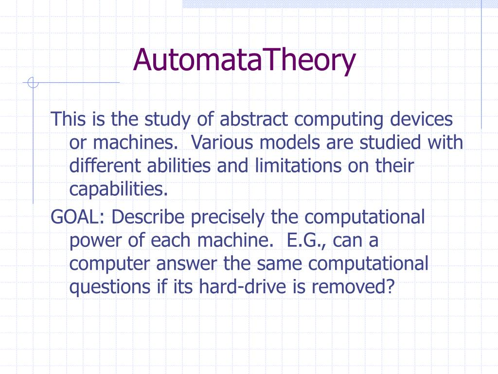 AutomataTheory