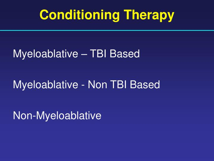Conditioning Therapy