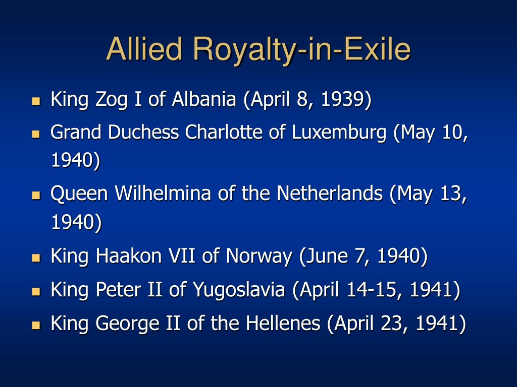 Allied Royalty-in-Exile