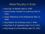 allied royalty in exile