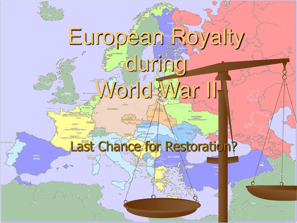 european royalty during world war ii l.