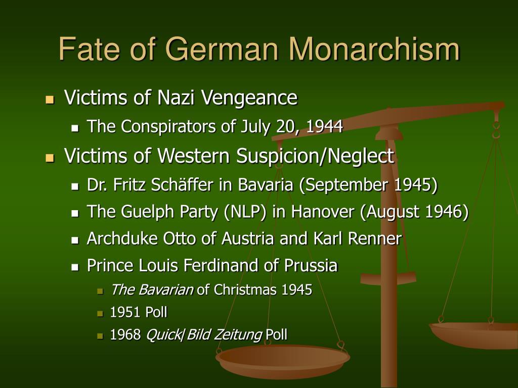 Fate of German Monarchism