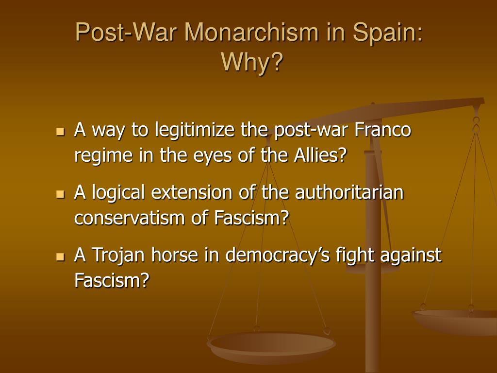 Post-War Monarchism in Spain: