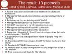 the result 13 protocols edited by irina eramova srdan matic monique munz