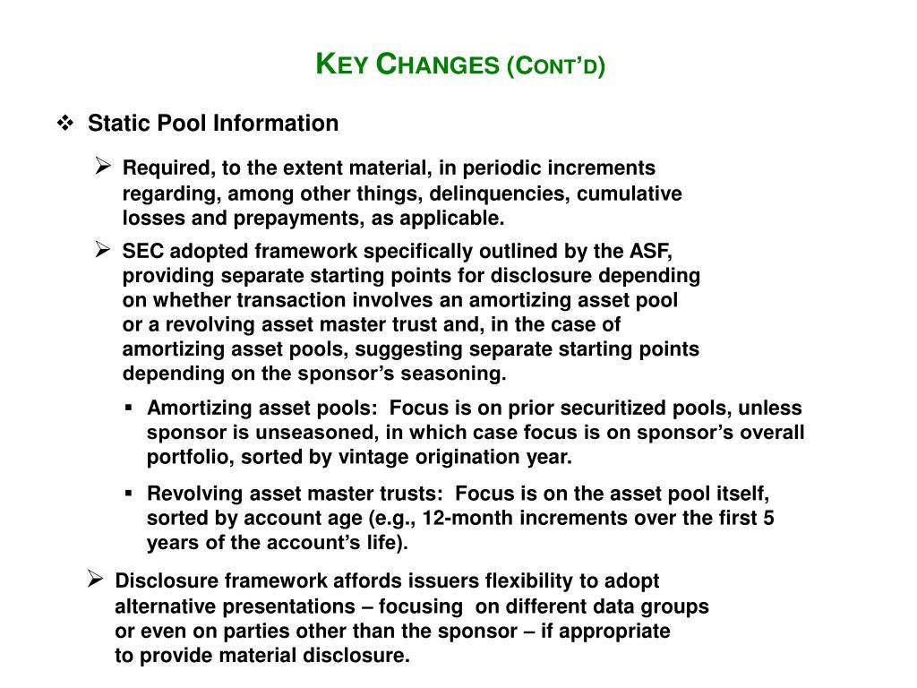 Static Pool Information