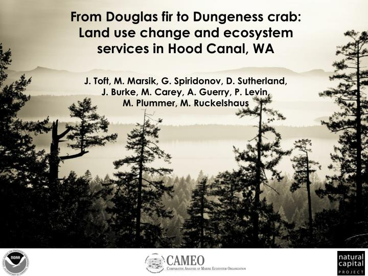 From Douglas fir to Dungeness crab: