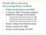 health affects education deworming project in busia1