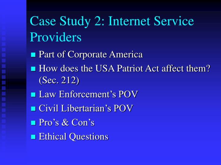 Case Study 2: Internet Service Providers