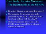 case study zacarias moussaoui the relationship to the usapa