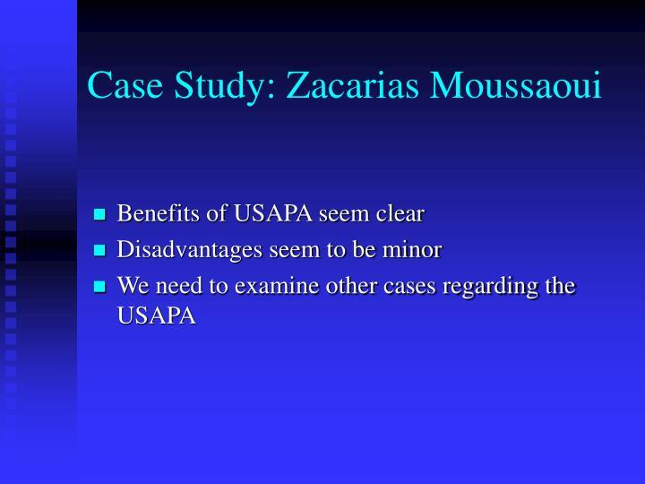 Case Study: Zacarias Moussaoui