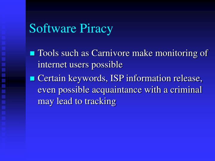 Software Piracy