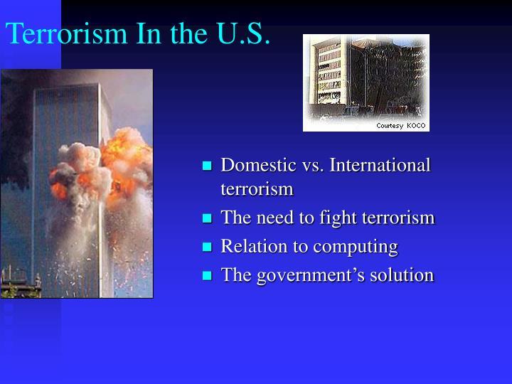 Terrorism In the U.S.