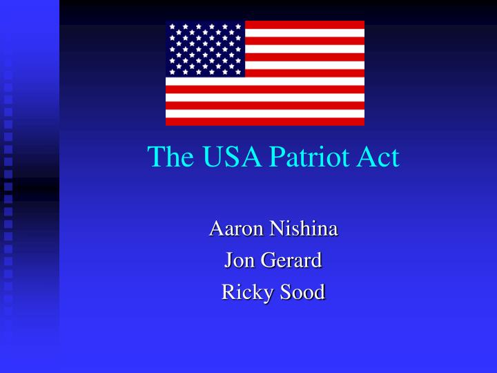 the usa patriot act n.