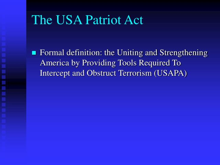 The usa patriot act1
