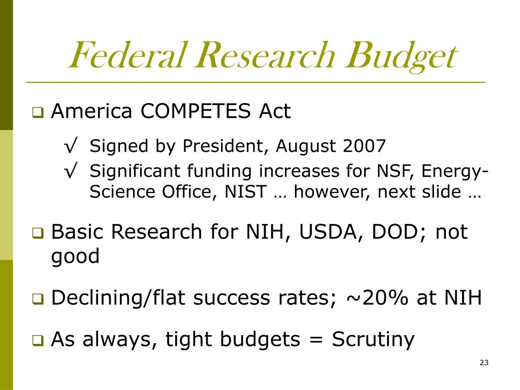 Federal Research Budget