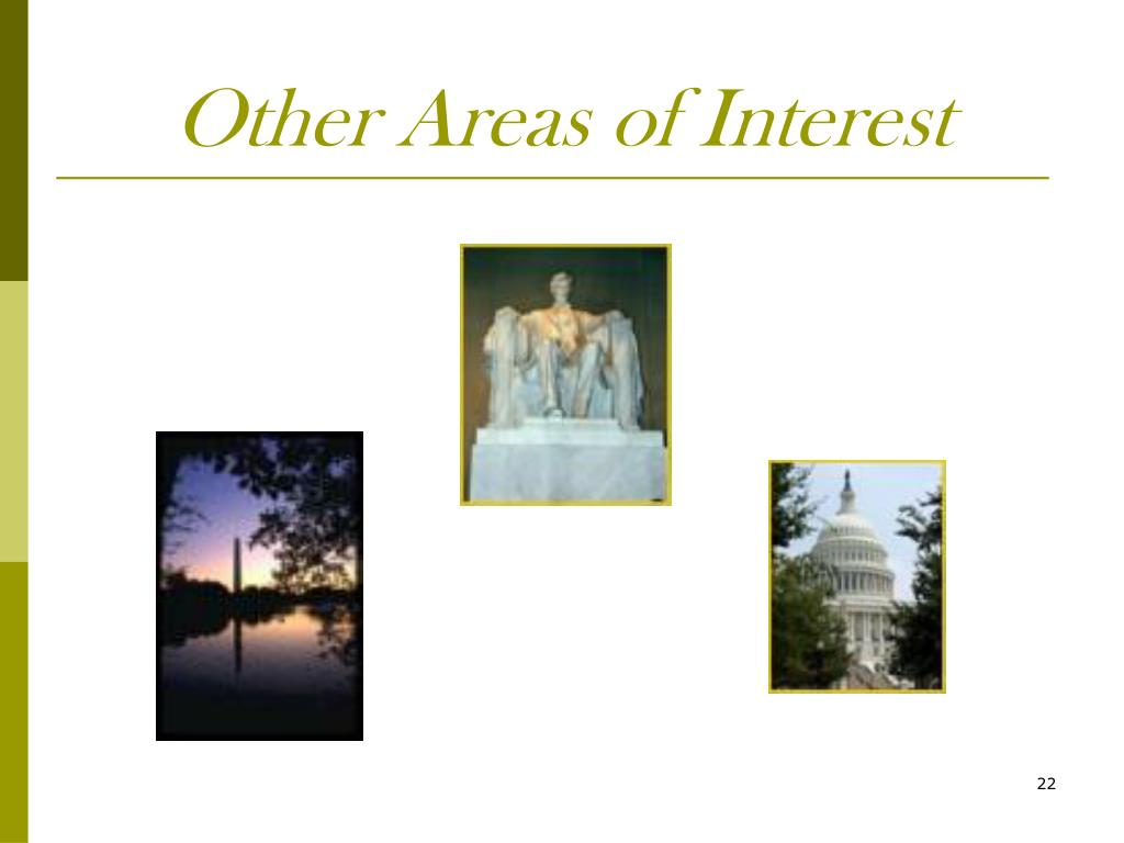 Other Areas of Interest