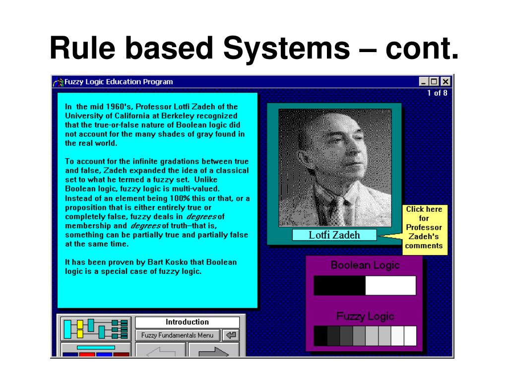 Rule based Systems – cont.