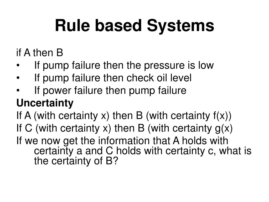 Rule based Systems