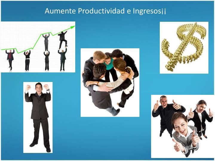 Aumente Productividad e Ingresos¡¡