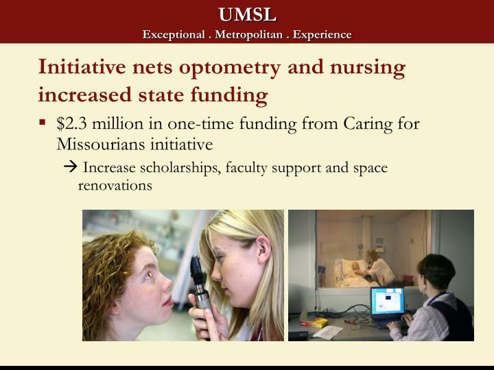 Initiative nets optometry and nursing increased state funding