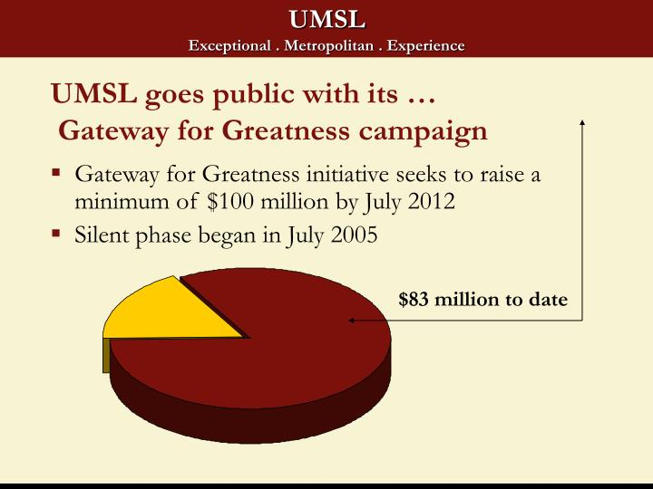 UMSL goes public with its …