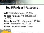top 5 pakistani attackers