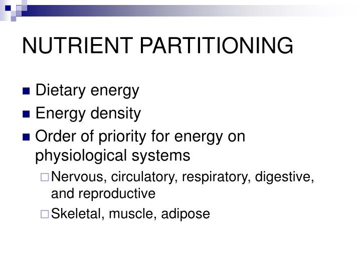 Nutrient partitioning1