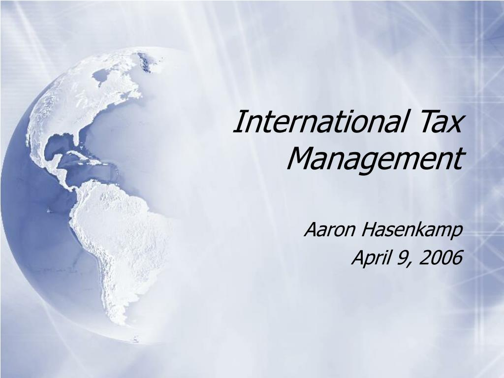 international tax management l.