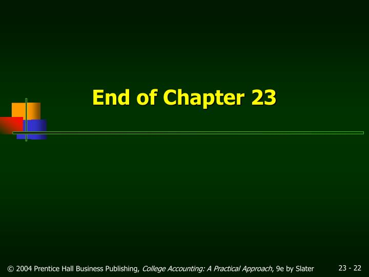 End of Chapter 23