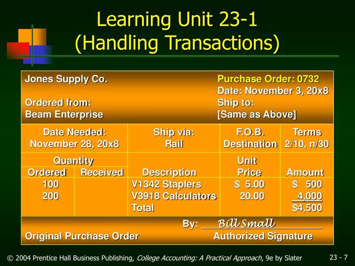Learning Unit 23-1