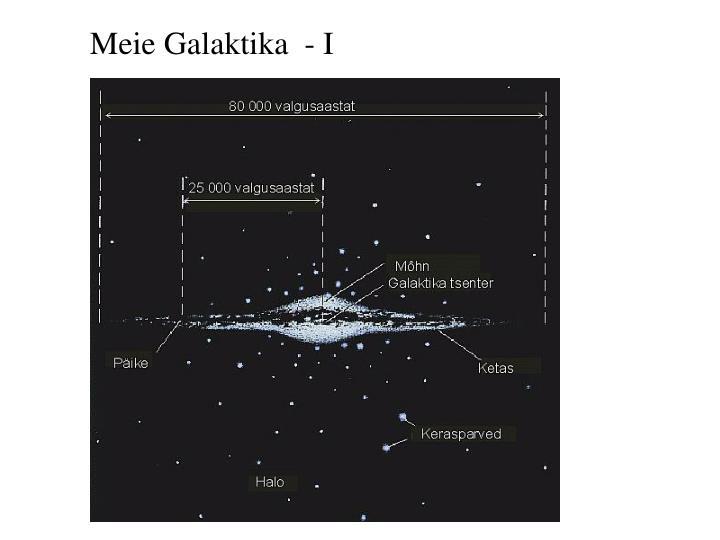Meie Galaktika  - I