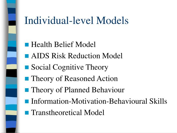 Individual level models