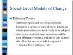 social level models of change18