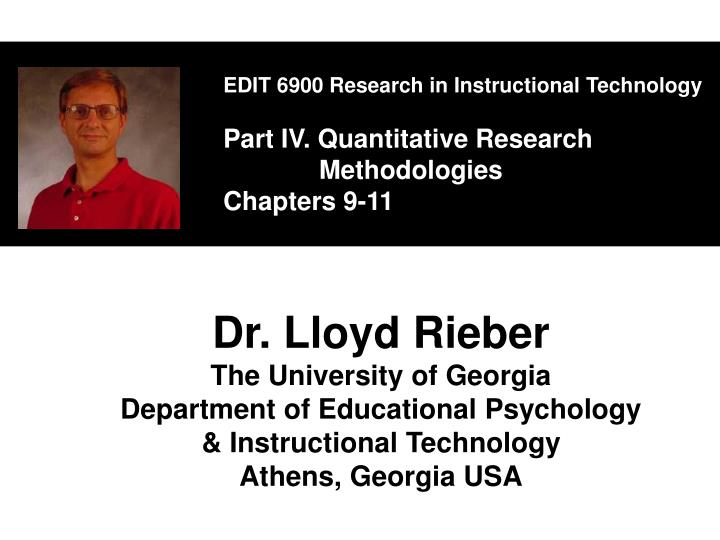 EDIT 6900 Research in Instructional Technology