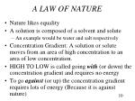 a law of nature